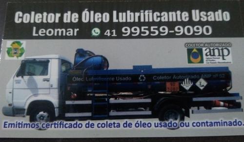 coleta de óleo queimado, lubrificante usado