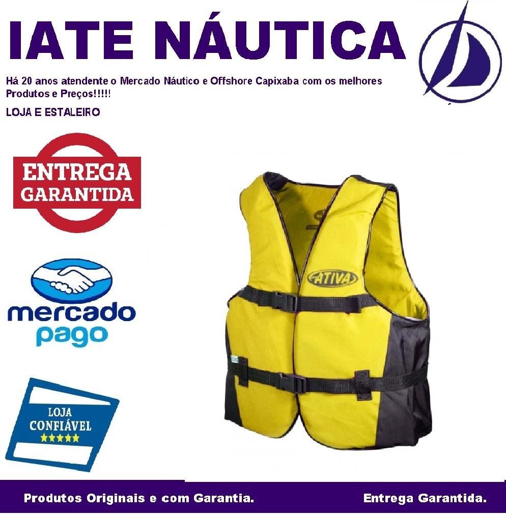 9f9c85f4bb Colete Auxiliar De Flutuação Infantil Ativa Canoa Até 30kg - R  50 ...