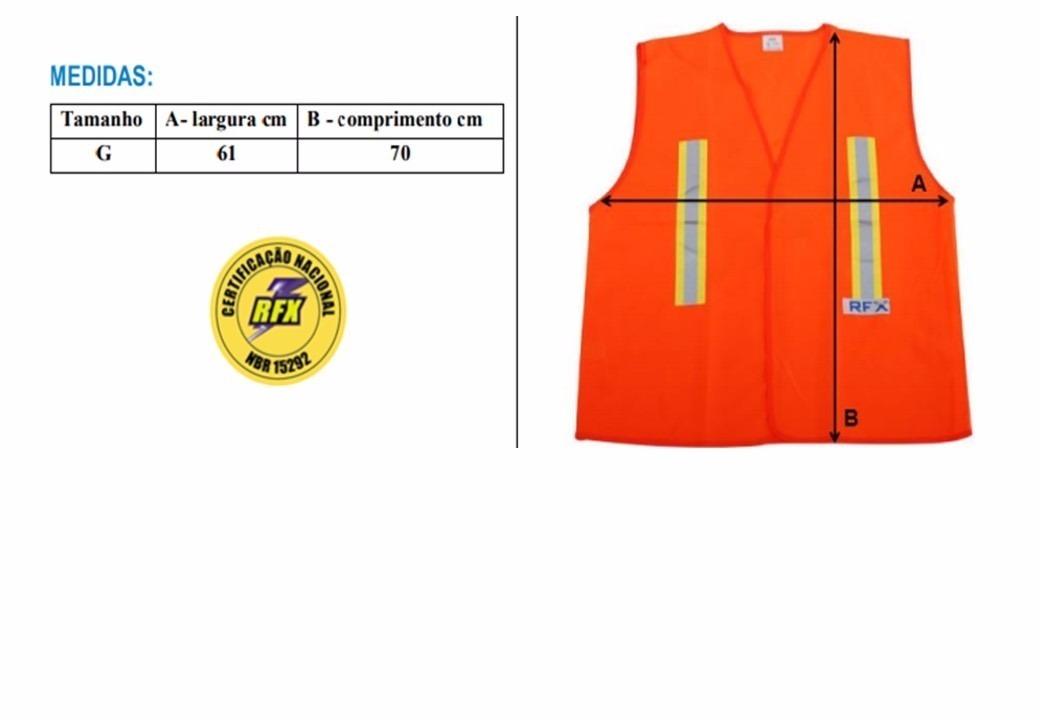 Colete Blusão S  Bolso Laranja Refletivo Luminoso Rfx - R  19,90 em ... 23e20611e1