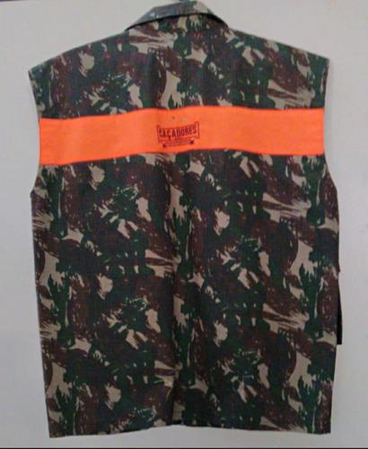 colete camuflado caçadores brs - atirador 1