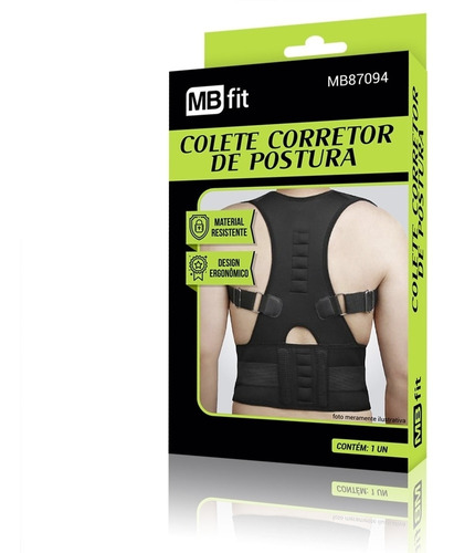 colete corretor de postura magnetico modelador cinta coluna