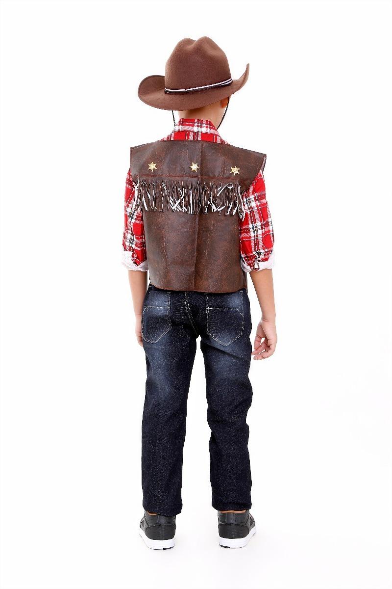 Colete Cowboy Country Com Chapeu Infantil Unissex c09ea026879