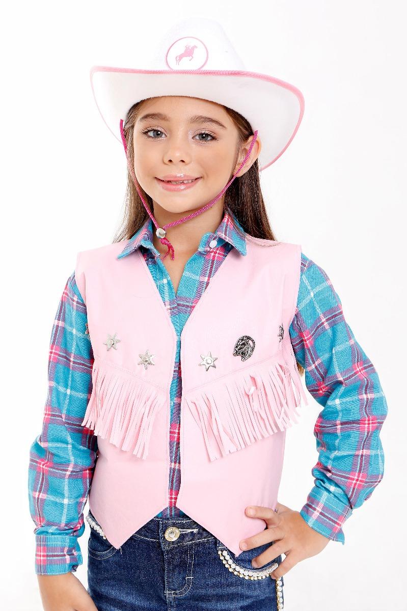 colete cowboy menina infantil fantasia country feminna roupa. Carregando  zoom. bb77c51b0a3