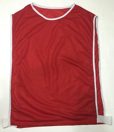 colete de futebol azul vermelho face única uma cor treino