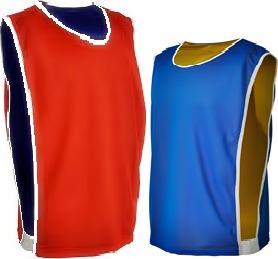 colete de futebol dupla face azul c/ vermelho e outras cores