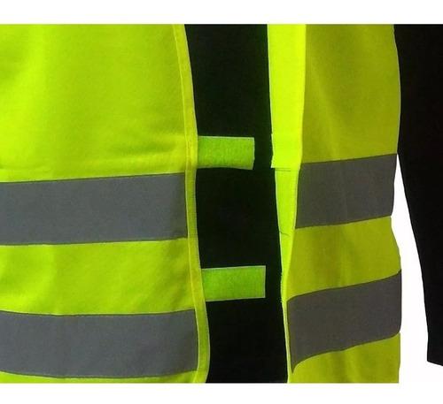 colete de seguranca refletivo fluorescente sinalização obras