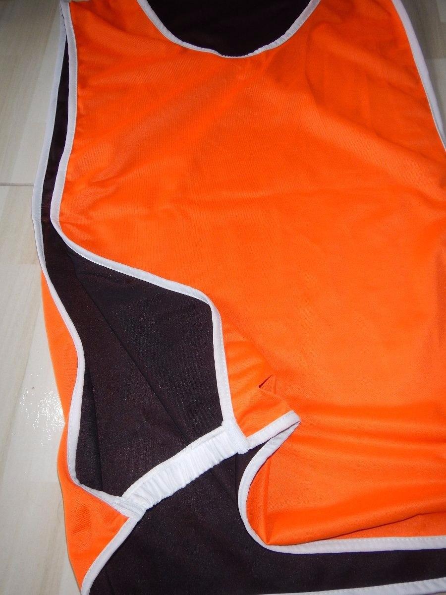 colete dupla face preto com laranja varias cores futebol. Carregando zoom. d769658ec5294