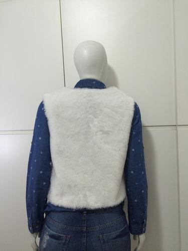 colete feminino pelo sintético outono inverno pronta entrega