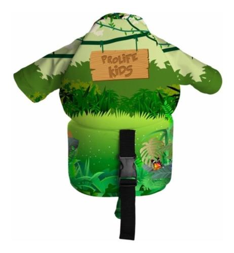 colete flutuador com camiseta proteção solar embutida infant