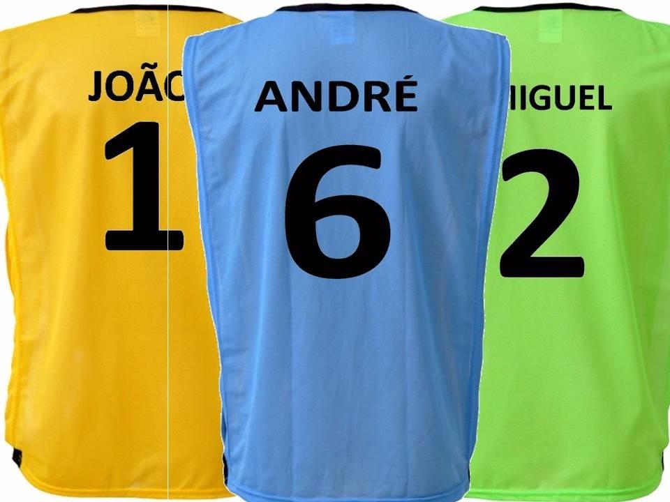 e0e9348a14b7c Colete Futebol Infantil Personalizado - Várias Cores - R  13