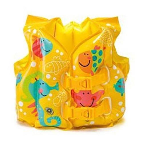 colete inflável infantil peixinho intex