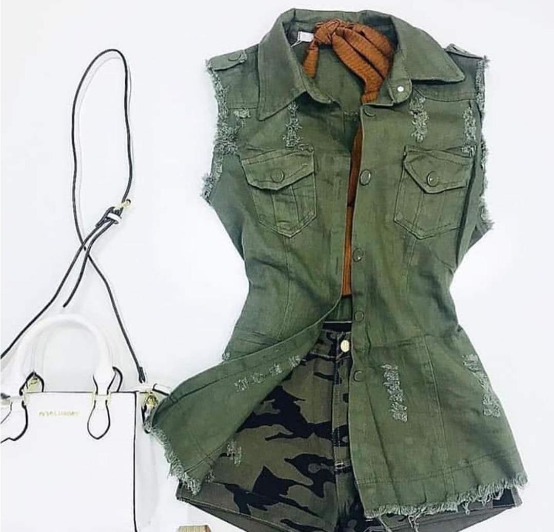 Colete Jeans Feminino Maxi Instagram Comprido Varias Cores - R  60 ... f64bca8d53b