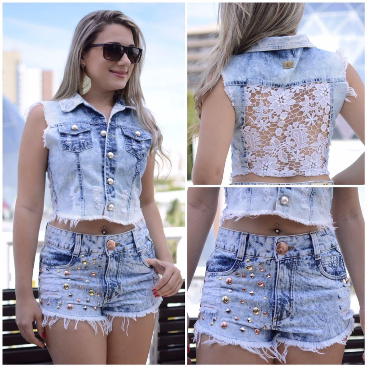 Colete Jeans Feminino P 61d04585a23b6