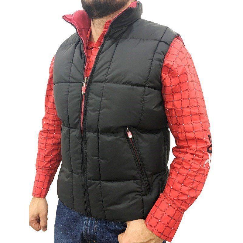 colete masculino dupla face preto vermelho avalon. Carregando zoom. 65faa7c902fcf