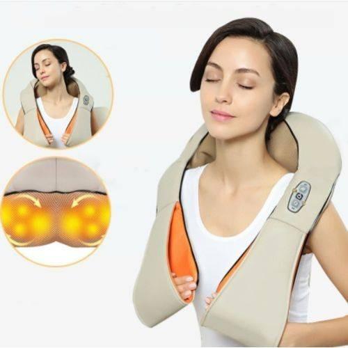 colete massageador aquecimento shiatsu pescoço ombro