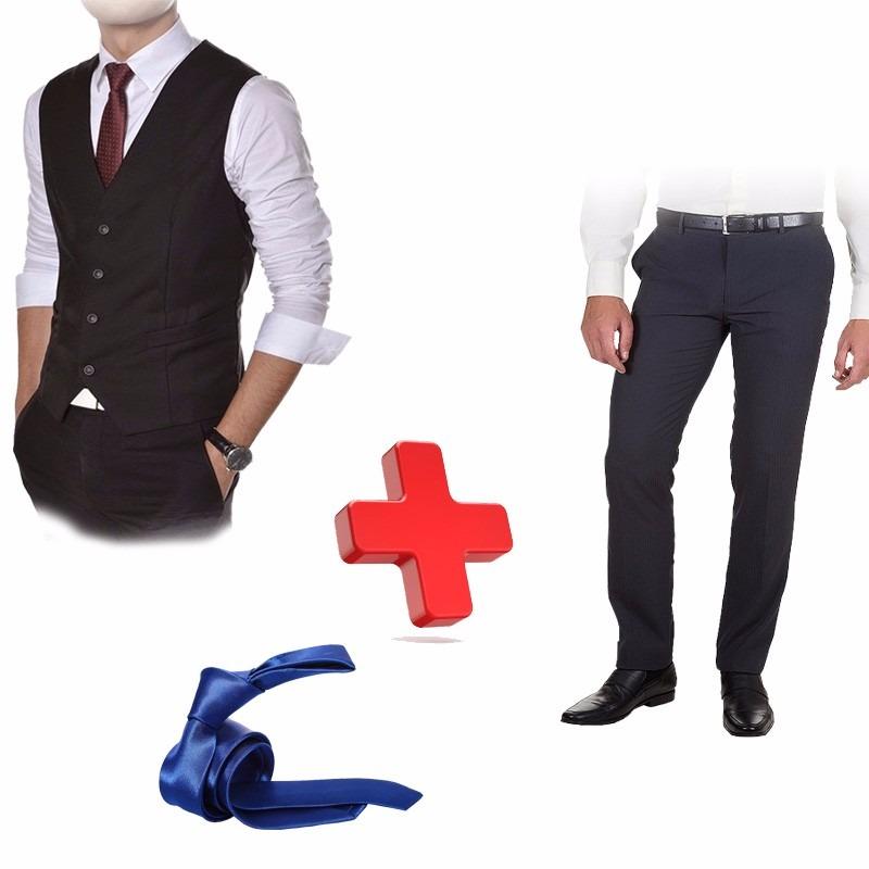 3bc0550bd9 colete oxford + calça social + camisa social + gravata brind. Carregando  zoom.