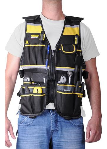 colete porta ferramentas 20 compartimentos stanley fatmax