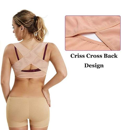 colete postural feminino corretor preto e bege