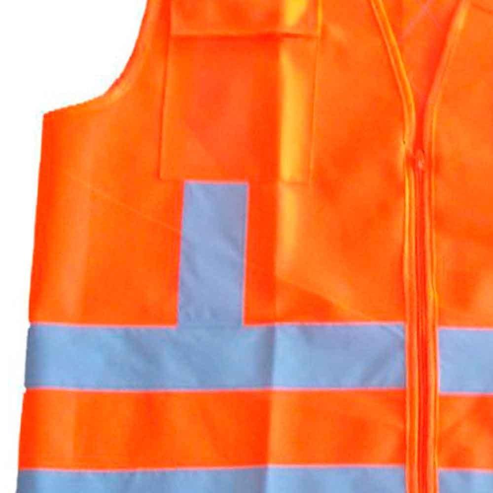 04243c2284280 colete refletivo laranja com 2 bolsos e ziper - cg 04-carbog. Carregando  zoom.