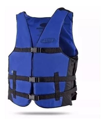 colete salva vidas ativa esportivo vários tamanhos azul