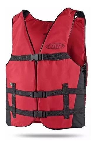 colete salva vidas ativa esportivo vários tamanhos vermelho