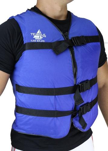 colete salva vidas com ziper 105kg tecsul