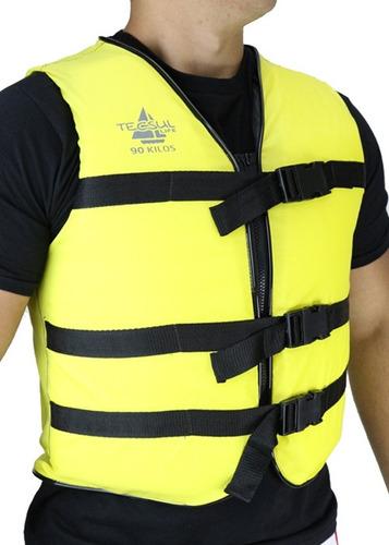 colete salva vidas com ziper 120kg tecsul