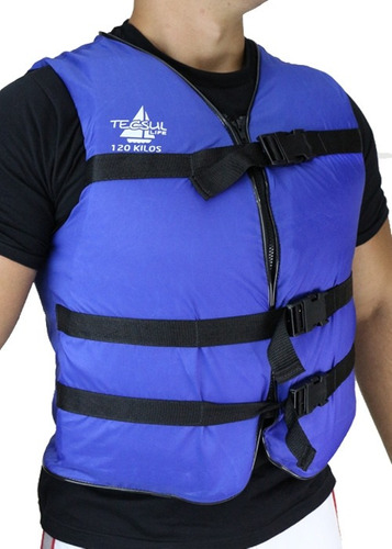 colete salva vidas com ziper 120kg tecsul cores variadas