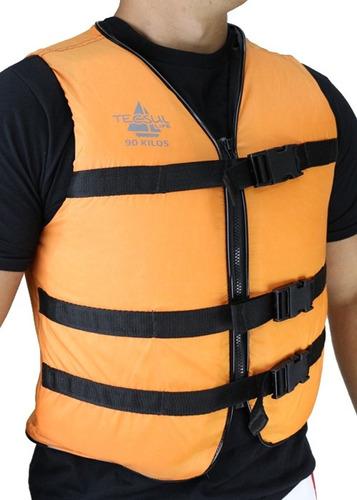 colete salva vidas com zíper 75kg tecsul