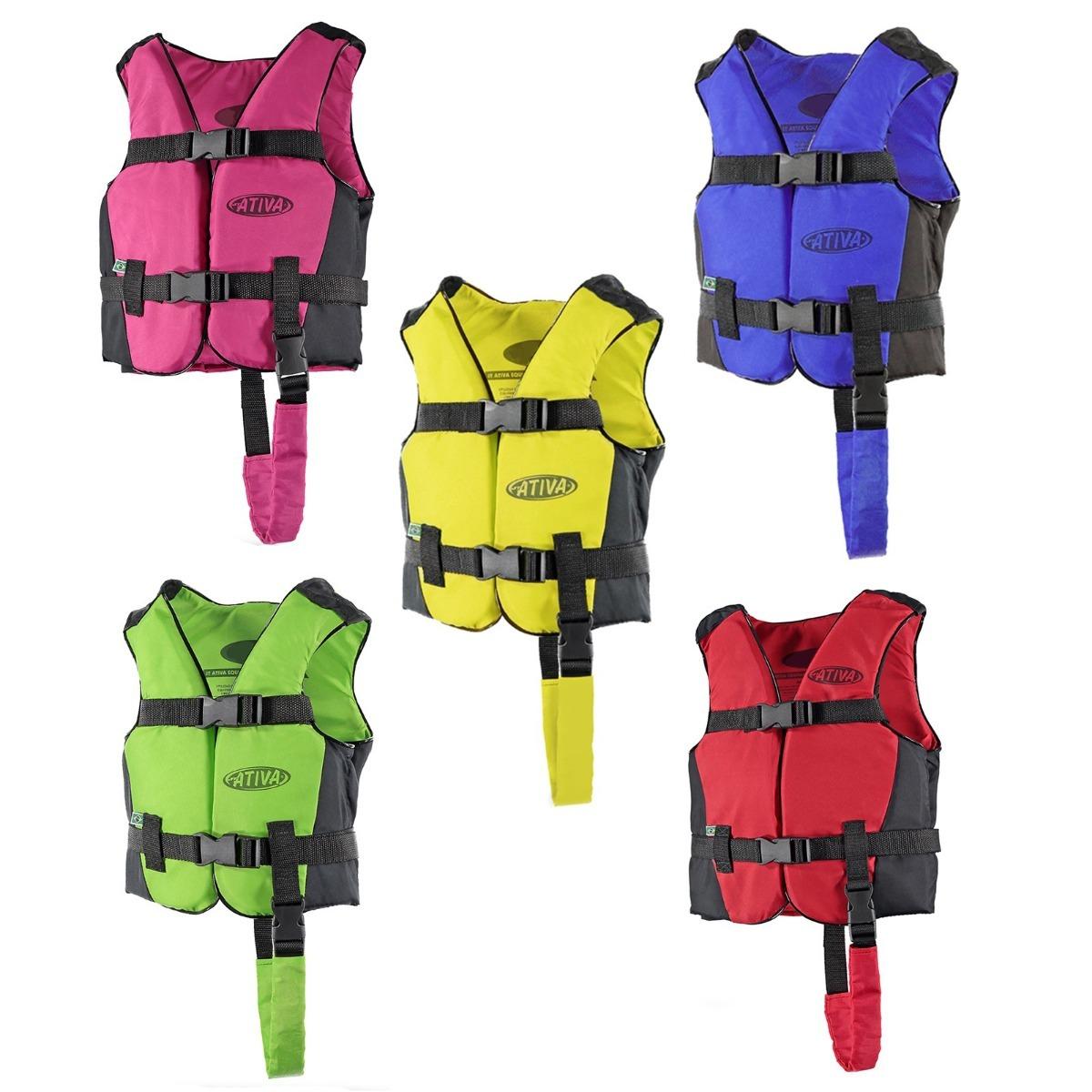 c0e70fd31 colete salva vidas esportivo canoa infantil 30kg ativa cores. Carregando  zoom.