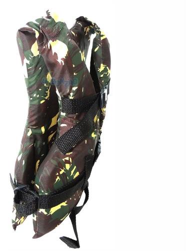 colete salva vidas piracema camuflado 100kg com ziper