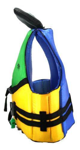 colete s.vida aux. flutuação - colorido - 70kg