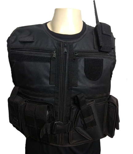 colete tático cinto tático coldre tático - kit operacional