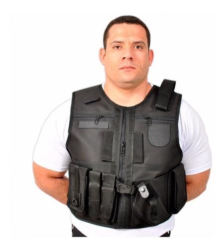 colete tático comandos dois bolsos peitorais embutidos