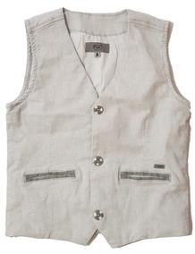 9f94ceb719 Colete Tigor T. Tigre Jeans Cinza Original Tam 8