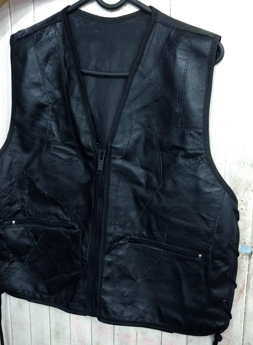 colete casaco masculino retalho de couro legitimo vieis. Carregando zoom. f6da8a0efc9