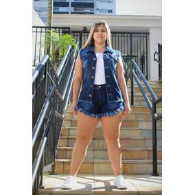 be24c48f9 Colete Jeans Feminina Plus Size Tamanho G2 - Coletes Femininas no ...
