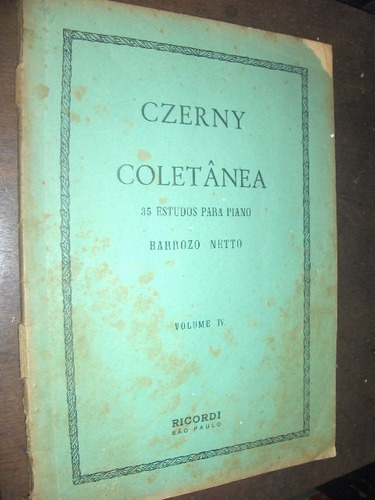 coletânea 35 estudos para piano barrozo neto