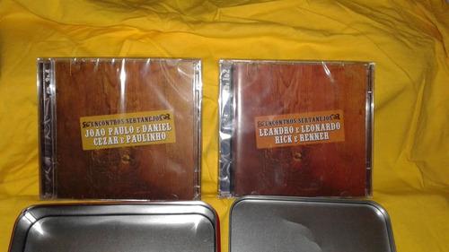 coletânea- encontros sertanejos  -04 cds-coleção lata