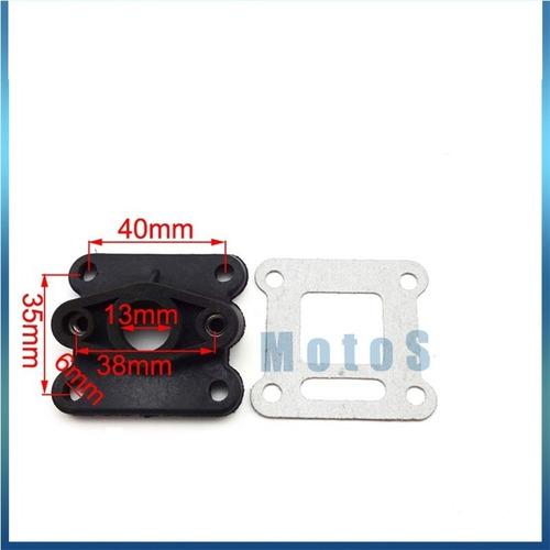 coletor admissao + junta mini moto 49cc 47cc todas c/ medida