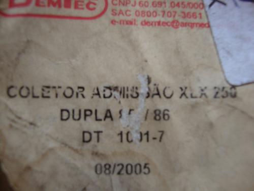coletor admissão dentec p/ honda xlx 250 duplo