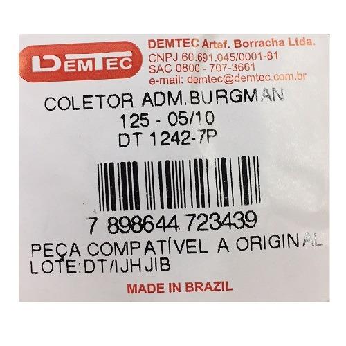 coletor de admissao burgman 125 2005/10 demtec