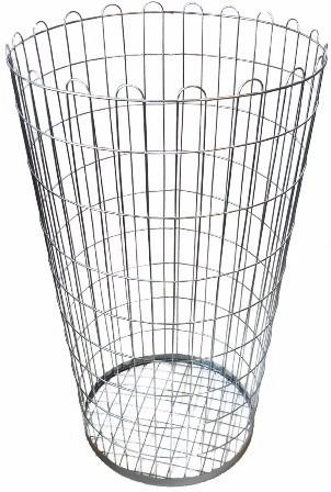 coletor de lixo aramado capacidade 200l redondo b7