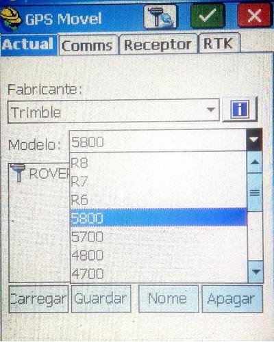 coletora miotek gps rtk c/ survce (trimble topcon leica chc)