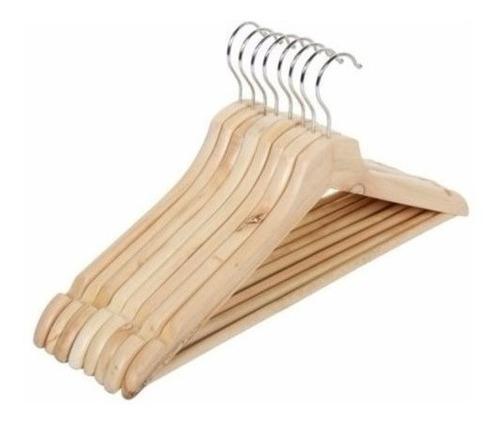 colgador de ropa madera 10 unidades