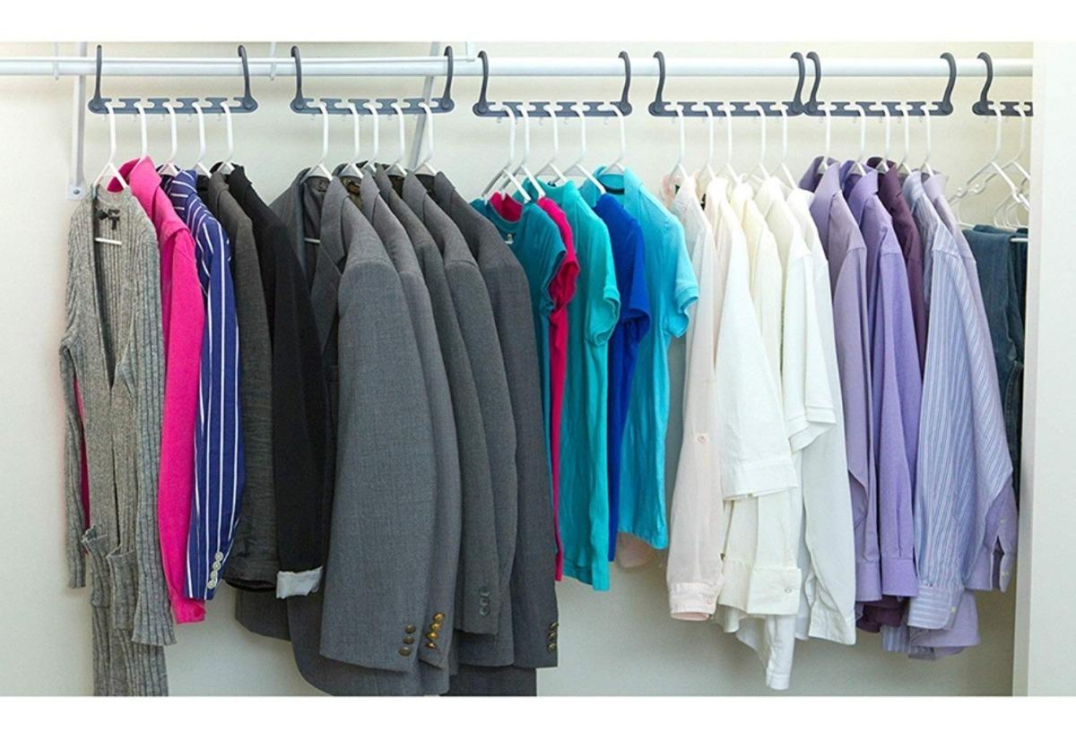 Resultado de imagen para Colgador de ropa para closet 8 pack