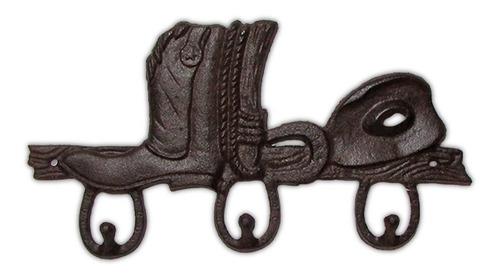 colgador doble bota vaquera, hierro / runn