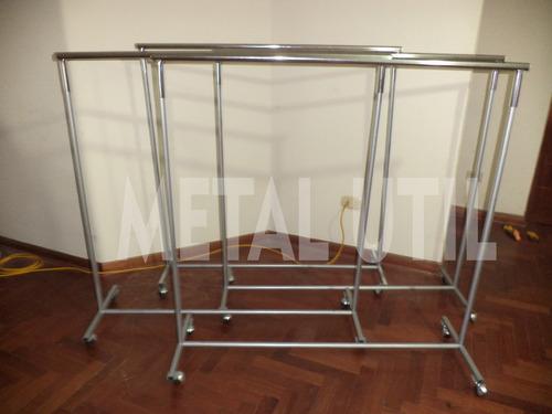 colgador exhibidor para ropa de metal