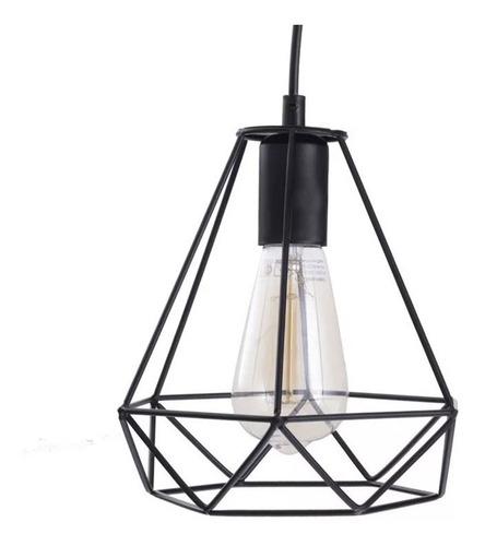 colgante 3 luces gea jaula industrial vintage moderno apto led luz desing