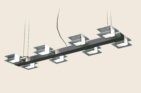 Colgante 8 Luces Diseño Vidrio Apto Led - $ 8.604,00 en Mercado Libre